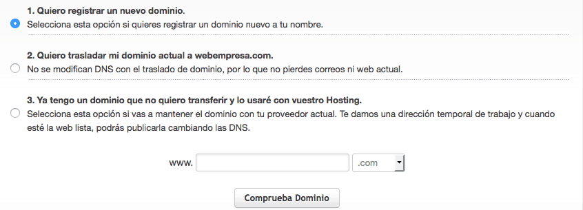 Dominio gratis webempresa