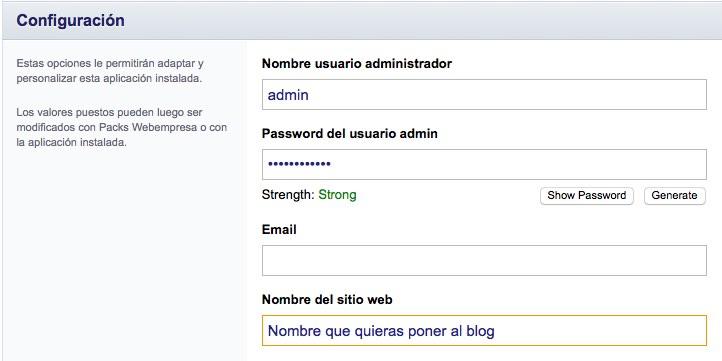 Datos de acceso