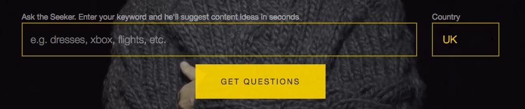 Saber preguntas con Answerthepublic
