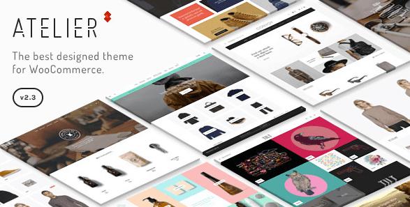 Theme Atelier WordPress woocommerce