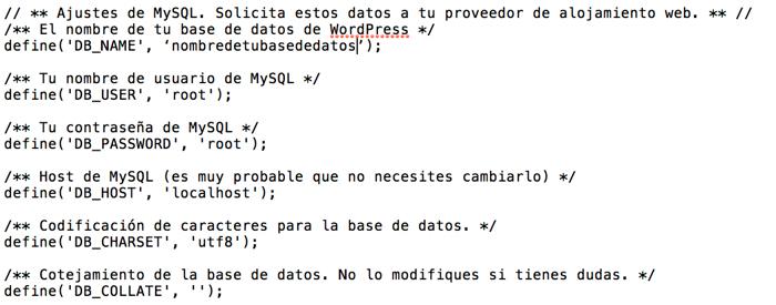 Cómo configurar wp config