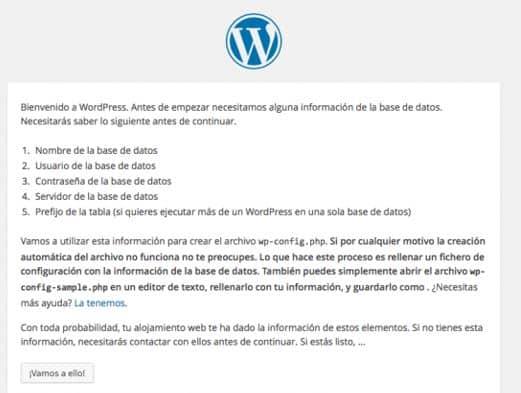 Tutorial instalación wordpress