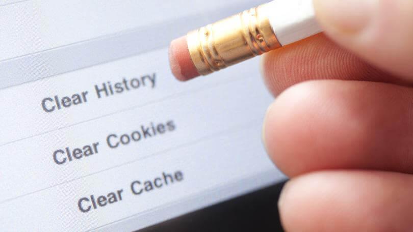 Borrar cookies historial