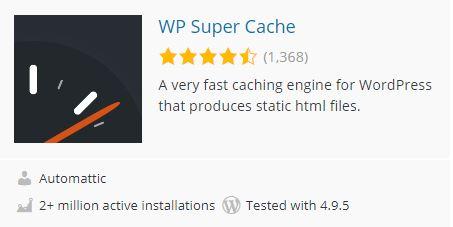 Super cache wp