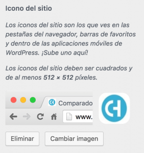 Subir favicon a WordPress