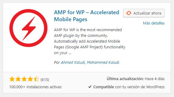 Plugin AMP WordPress