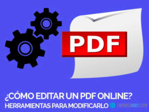 Como editar un pdf online