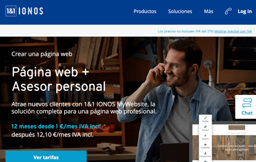 Creador web 1and1 Ionos