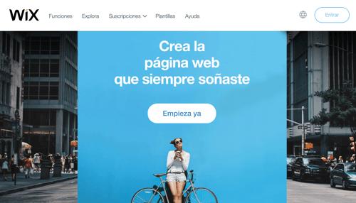 Hacer web con programa Wix