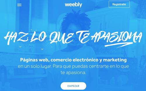 Weebly para crear web