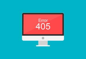 Qué es el error 405