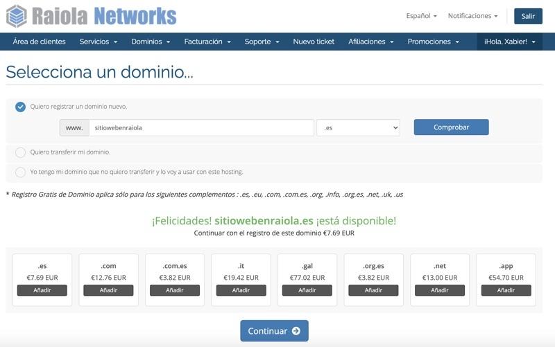 Pasos para registrar dominio gratis